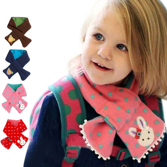 children's scarf Kids boy girl warm Shawl Winter bear style Neck