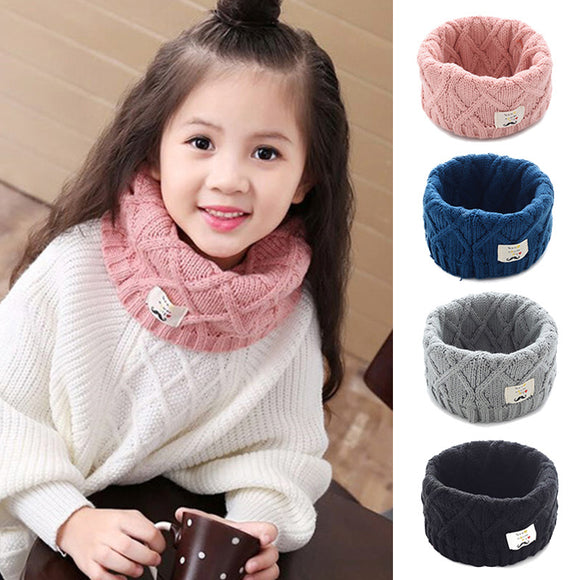 Children Girls Kintted Wool O-Scarves Chidren Outing Protect