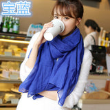 Solid Linen And Cotton Fashion Female Beach Multi-purpose High Quality Shawl