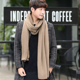 Winter Warm Scarves Male All-match Solid Color Shawl Casual