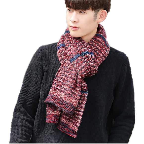 Knitted Men's Scarf Thick Warm Lovers Knit Scarves