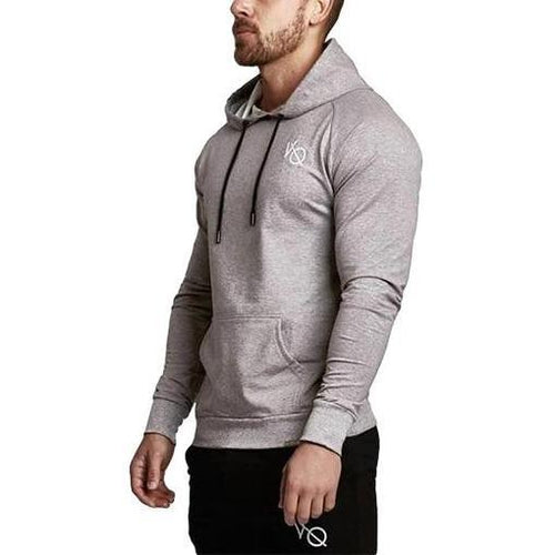 GREY TECH PULLOVER HOODIE