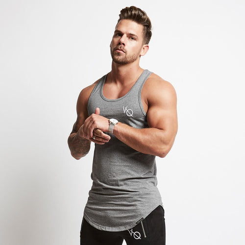 ESSENTIAL GREY LONGLINE TANK