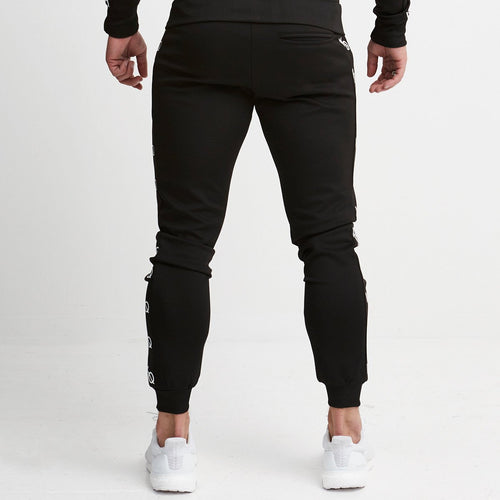 BLACK LT TAPERED TRACK PANTS