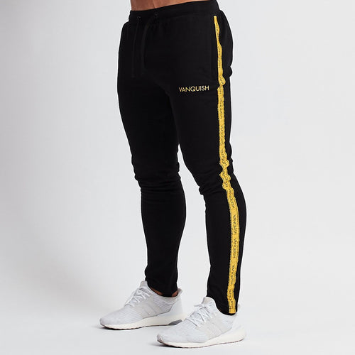 MINIMAL BLACK TAPERED SWEATPANTS