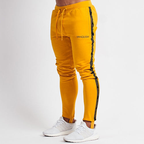 MINIMAL YELLOW TAPERED SWEATPANTS