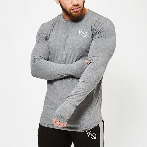 ECLIPSE GREY LONG SLEEVED T SHIRT