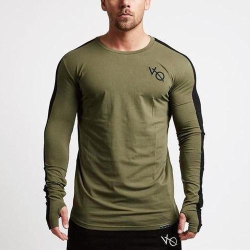 GREEN LONG SLEEVE STRIKE T SHIRT