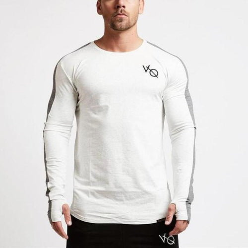 WHITE LONG SLEEVE STRIKE T SHIRT
