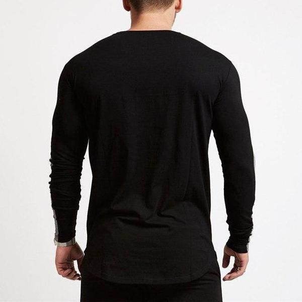 BLACK LONG SLEEVE STRIKE T SHIRT
