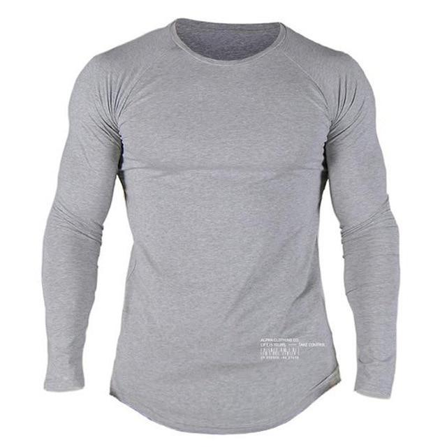 ALPHA GREY LONG SLEEVE
