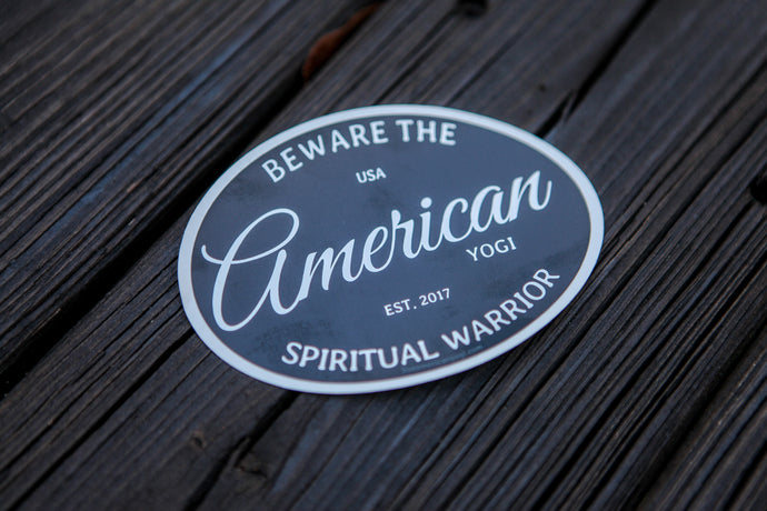 Beware the Spiritual Warrior Sticker (Black)