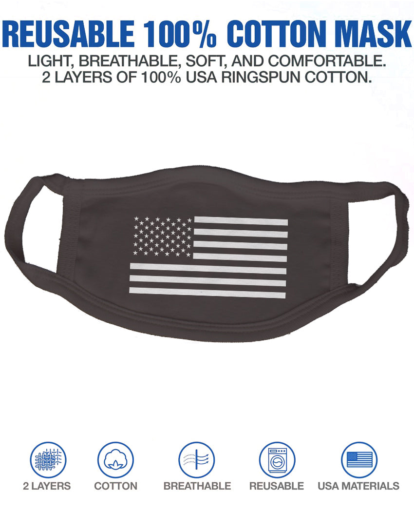 Reusable Face Mask 2 Layer Cotton With Graphics