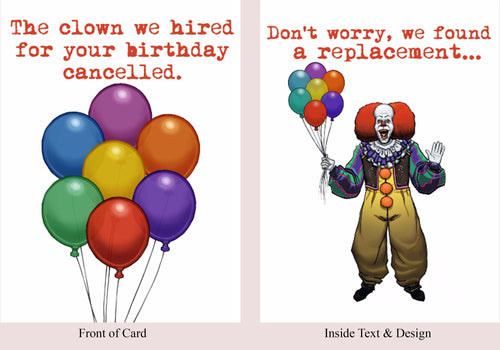 It - Birthday Card - Blood Bound Books