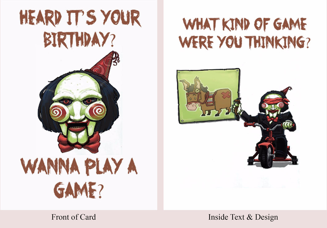 Saw - Birthday Card - Blood Bound Books
