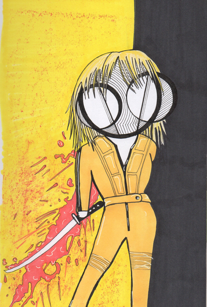 Kill Bill Beatrix Kiddo art print by Hannah Arthur