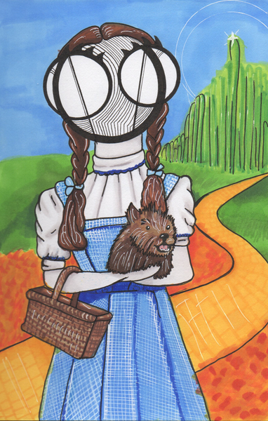 Wizard of Oz Dorothy gale art print by hannah arthur