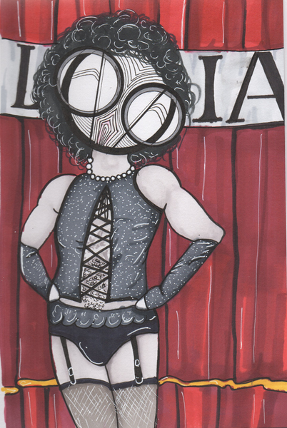 Rocky Horror Picture Show Dr Frank n furter art print by hannah arthur