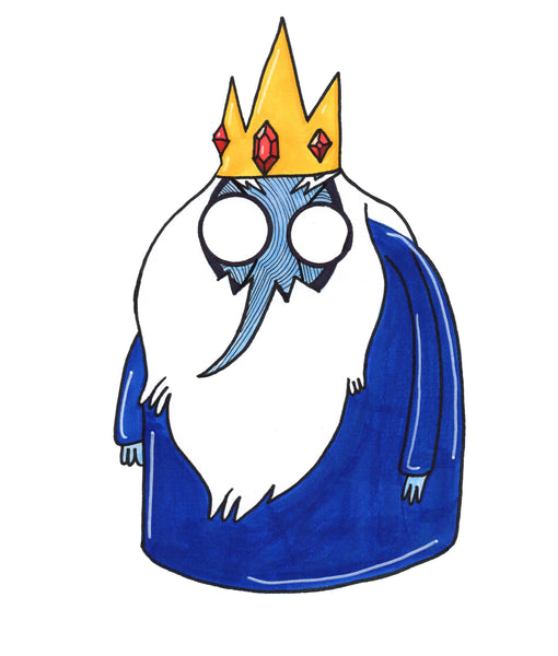 Adventure Time Ice King Art Print by Hannah Arthur