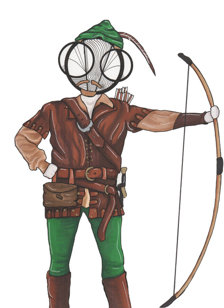 Cary Elwes Robin Hood Men in Tights Art Print by hannah arthur