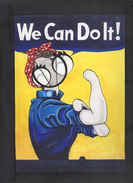 Rosie the Riveter art print by hannah arthur