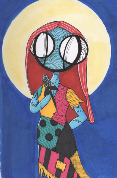 Nightmare Before Christmas Sally Art print by hannah arthur