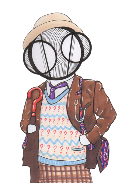 Doctor Who 7th Dr. Sylvester McCoy Art Print by Hannah Arthur