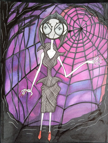 Laikas Neil Gaiman Coraline Other Mother Original Art by Hannah Arthur