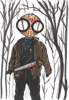 Friday the 13th Jason Voorhees Art Print by hannah arthur