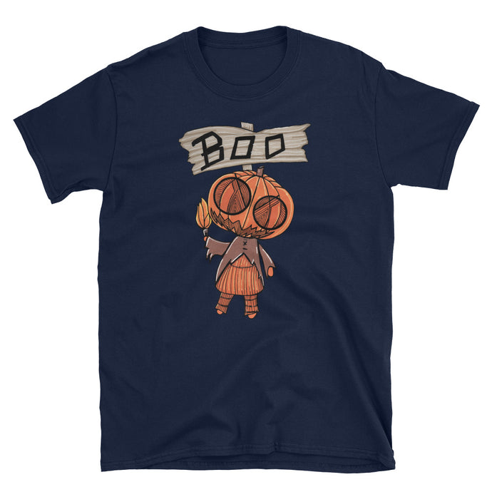 Pumpkin Head Short-Sleeve Unisex T-Shirt