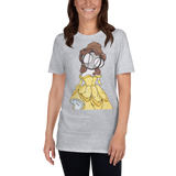 Princess Belle Art Grey T-shirt By hannah Arthur