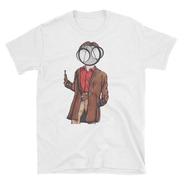 Captain Malcolm Reynolds art t-shirt white by hannah arthur