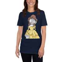 Princess Belle Art Blue T-shirt by Hannah Arthur