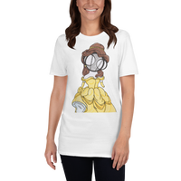 Princess Belle Art White t-shirt by Hannah Arthur