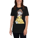 Princess Belle Art Black T-shirt by Hannah arthur