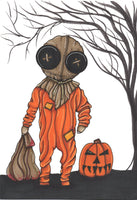 Trick R' Treat Sam Art Print by Hannah Arthur