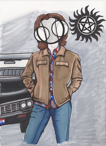 Jared Padalecki Supernatural Sam Winchester Art Print by hannah arthur