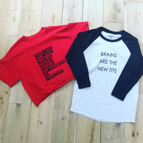 Brains Baseball Tee