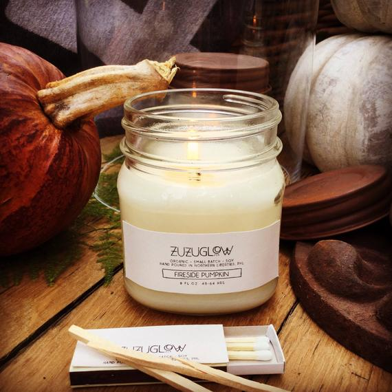 Fireside Pumpkin 8oz Soy Candle
