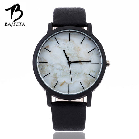 Men's and Women's Marble Style Leather Watch - The Fashion Shop