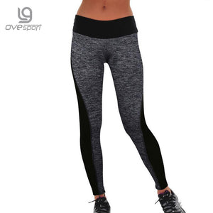 Plus Size Black/Gray Women's Fitness Leggings Workout Pants High Waist Leggings Ladies Sporting Leggings Quick-drying Trousers - The Fashion Shop