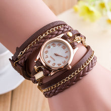 New Fashion Winding Bracelet Watch Women Casual Dress Watches relojes mujer Vintage Leather Ladies Quartz Wrist watch Clock Gift - The Fashion Shop