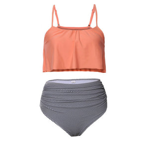 High Waist Swimwear Women Vintage Top - The Fashion Shop