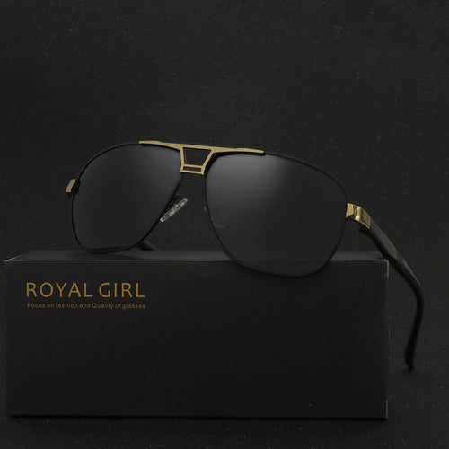 ROYAL GIRL High Quality Men Sunglasses Classic Brand Driving Sunglasses 100% Polarized Sunglasses oculos de sol masculino SS509 - The Fashion Shop