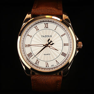 YAZOLE Quartz Watch Men Top Brand Luxury Famous 2017 Wristwatch Male Clock Wrist Watch Business Quartz-watch Relogio Masculino - The Fashion Shop