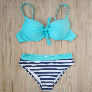Women Swimwear Beach Low Waist Bikini Set - The Fashion Shop