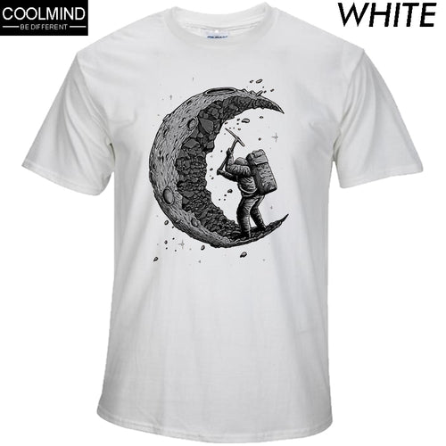 100% cotton digging the moon print casual