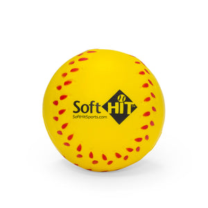 Soft Practice Baseballs - Yellow
