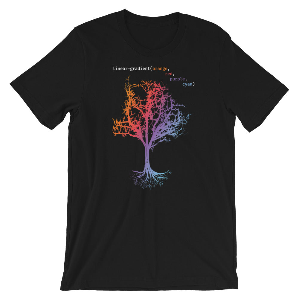 Linear Gradient Tree Short-Sleeve Unisex T-Shirt