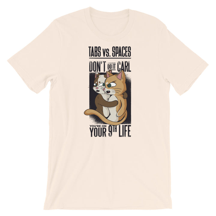TABS vs. SPACES Cats Short-Sleeve Unisex T-Shirt